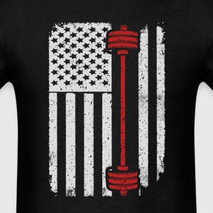 Barbell Lifting Weights Workout Gym - America USA  T-Shirts - Men's T-Shirt
