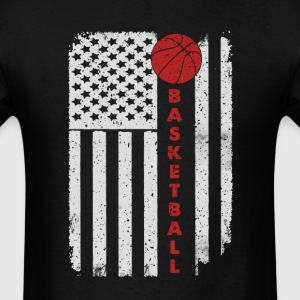 Basketball Ball Player - America USA Flag T-Shirt T-Shirts - Men's T-Shirt