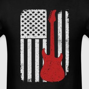 Guitar - America USA Flag T-Shirt T-Shirts - Men's T-Shirt