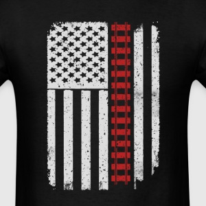 Railroad Worker Model Railroads - America USA Flag T-Shirts - Men's T-Shirt