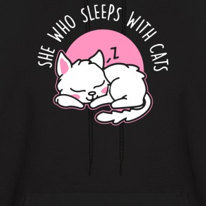 She Who Sleeps With Cats - Men's Hoodie