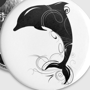 jumping dolphin Buttons - Small Buttons