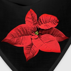 Bright Red Poinsettia Caps - Bandana