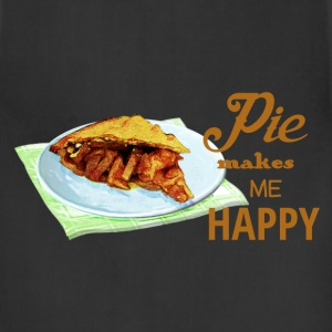 Pie Makes Me Happy - Adjustable Apron