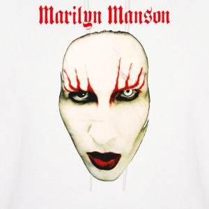 MARILYN MANSON BIG FACE RED LIDS OFFICIAL - Men's Hoodie