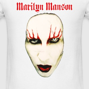 MARILYN MANSON BIG FACE RED LIDS OFFICIAL - Men's T-Shirt