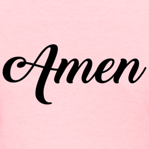 Amen Typographic black T-Shirts - Women's T-Shirt