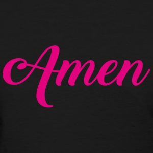 Amen Typographic pink T-Shirts - Women's T-Shirt