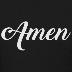 Amen Typographic grey T-Shirts - Women's T-Shirt