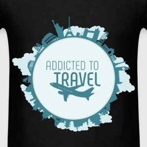 Addicted to travel - Men's T-Shirt