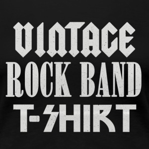 Vintage Rock Band T-shirt - Women's Premium T-Shirt