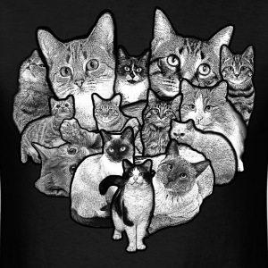 Cat Heart Collage - Men's T-Shirt