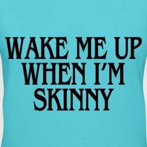 WHEN I'M SKINNY T-Shirts - Women's V-Neck T-Shirt