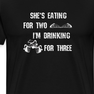 She's Eating for Two T-Shirts - Men's Premium T-Shirt