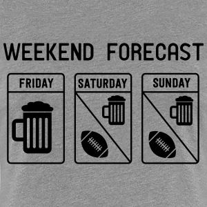 Weekend Forecast. Football T-Shirts - Women's Premium T-Shirt