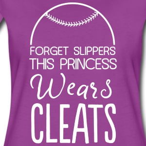 Forget slippers this princess wears cleats T-Shirts - Women's Premium T-Shirt