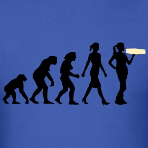 evolution_female_supplier_pizza_service_ T-Shirts - Men's T-Shirt