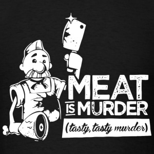 Meat is Murder Tasty Tasty Murder - Men's T-Shirt