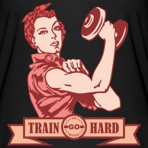 TRAIN HARD YOU CAN DO IT RETRO - Women's Flowy T-Shirt