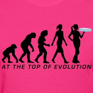 evolution_female_supplier_pizza_service_ T-Shirts - Women's T-Shirt