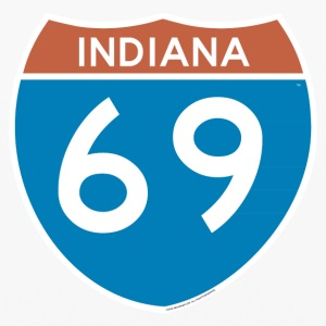 Indiana 69 - Interstate Phone & Tablet Cases - iPhone 6/6s Rubber Case