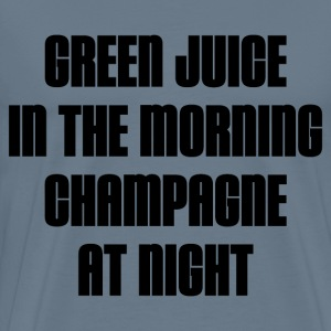 GREEN JUICE AND CHAMPAGNE T-Shirts - Men's Premium T-Shirt