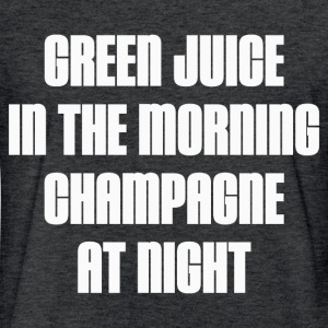 GREEN JUICE AND CHAMPAGNE T-Shirts - Fitted Cotton/Poly T-Shirt by Next Level