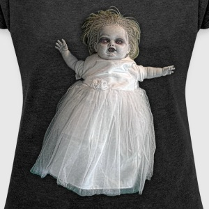 Zombie Vampire Doll - Women´s Roll Cuff T-Shirt