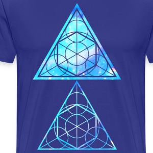 Blue Triangles - Sacred Geometry  - Men's Premium T-Shirt