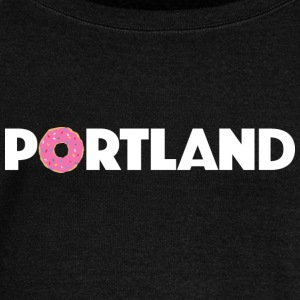 PORTLAND DONUT Long Sleeve Shirts - Women's Wideneck Sweatshirt