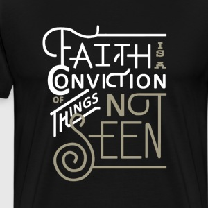 Hebrews 11:1 Bible T-Shirts - Men's Premium T-Shirt