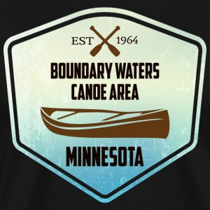 Canoe Minnesota Boundary Waters - Men's Premium T-Shirt
