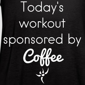 Workout sponsored by coffee - Women's Flowy Tank Top by Bella