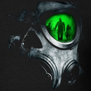 The_Green_Glas_Gas_Mask_Skull - Men's T-Shirt