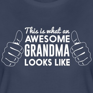 This is what an awesome grandma looks like T-Shirts - Women's Premium T-Shirt