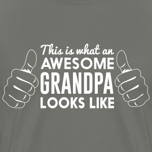 This is what an awesome grandpa looks like T-Shirts - Men's Premium T-Shirt