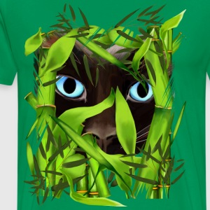 Siamese Cat Eyes in Bamboo - Men's Premium T-Shirt