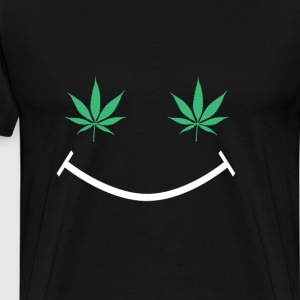 Happy Weed Smiley Face T-Shirts - Men's Premium T-Shirt