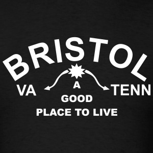 Famous Bristol Virginia Tennessee Sign T-shirt - Men's T-Shirt
