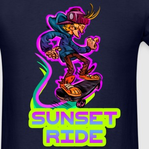 Best Skater T-Shirt Sunset Ride - Men's T-Shirt