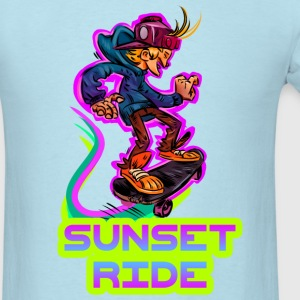 Best Skate T-Shirt Sunset Ride - Men's T-Shirt