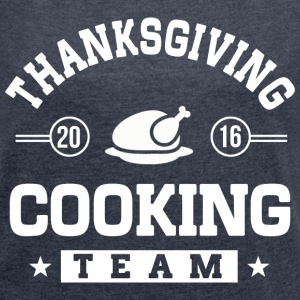 Thanksgiving Cooking Team T-Shirts - Women´s Rolled Sleeve Boxy T-Shirt