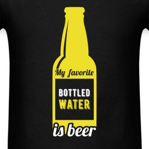 My favourite bottled water is beer - Men's T-Shirt