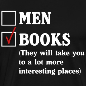 Men or Books?  T-Shirts - Men's Premium T-Shirt