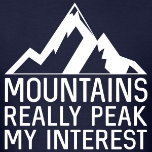 Mountains really peak my interest T-Shirts - Men's T-Shirt