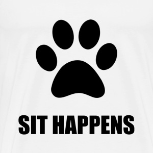 Sit happens Dog - Men's Premium T-Shirt