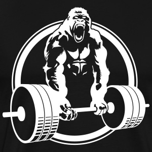Gorilla Lifting Beast WOD Mode Fitness - Men's Premium T-Shirt