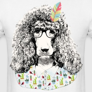 Hipster poodle T-Shirts - Men's T-Shirt
