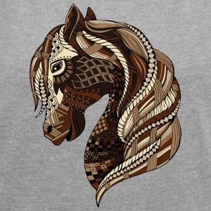 South Seas Wild Horse T-Shirts - Women´s Rolled Sleeve Boxy T-Shirt