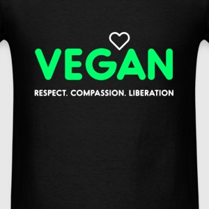 Vegan. Respect. Compassion. Liberation - Men's T-Shirt
